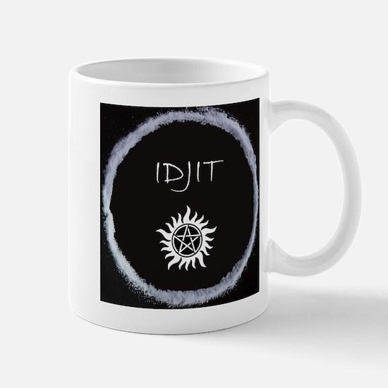 """Supernatural """"Idjit"""" badge Mug"""