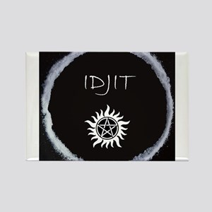 "Supernatural ""Idjit"" badge Rectangle Magnet"