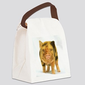 Micro pig looking messy Canvas Lunch Bag