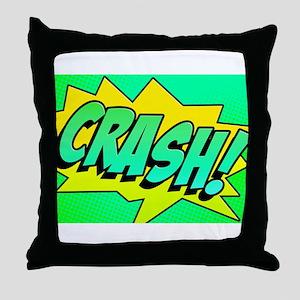 CRASH Comic Sound Effect Throw Pillow