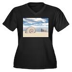 Beach of Shells Plus Size T-Shirt