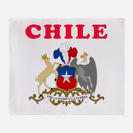 Chile Coat Of Arms Designs Throw Blanket
