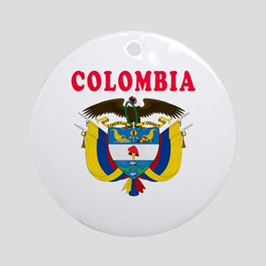 Colombia Coat Of Arms Designs Ornament (Round)