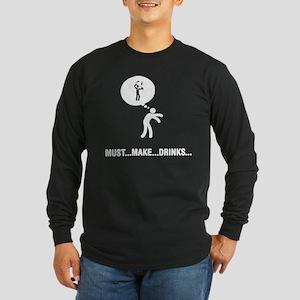 Bartender Long Sleeve Dark T-Shirt