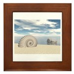 Beach of Shells Framed Tile