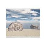 Beach of Shells Throw Blanket