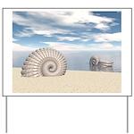 Beach of Shells Yard Sign