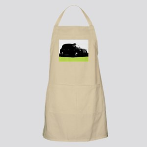 London's Black Taxi Cab Silhouette Apron
