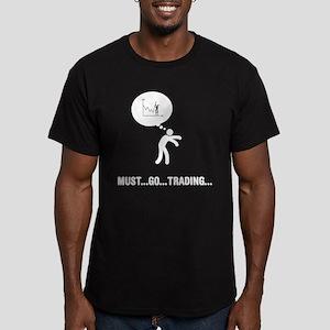 Financial Trader Men's Fitted T-Shirt (dark)