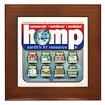 Hemp: Earth's #1 Resource Log Framed Tile