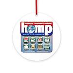 Hemp: Earth's #1 Resource Log Ornament (Round)