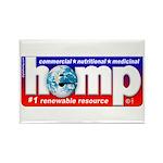 Hemp: Earth's #1 Resource Log Rectangle Magnet (10