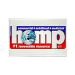 Hemp: Earth's #1 Resource Log Rectangle Magnet