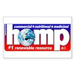 Hemp: Earth's #1 Resource Log Sticker (Rectangular