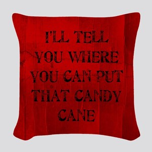 Where You Can Put That Candy Cane Woven Throw Pill