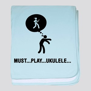 Ukulele Player baby blanket