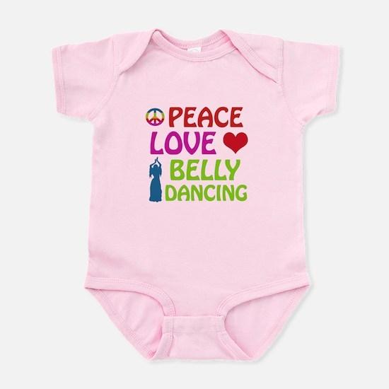 Peace Love Belly Dancing Infant Bodysuit