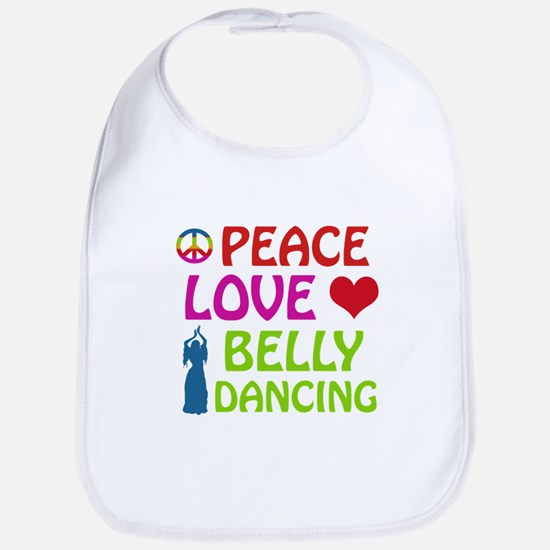 Peace Love Belly Dancing Bib