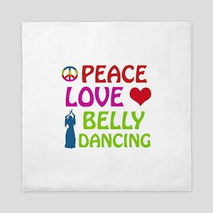 Peace Love Belly Dancing Queen Duvet