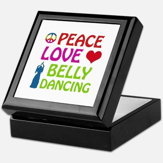 Peace Love Belly Dancing Keepsake Box