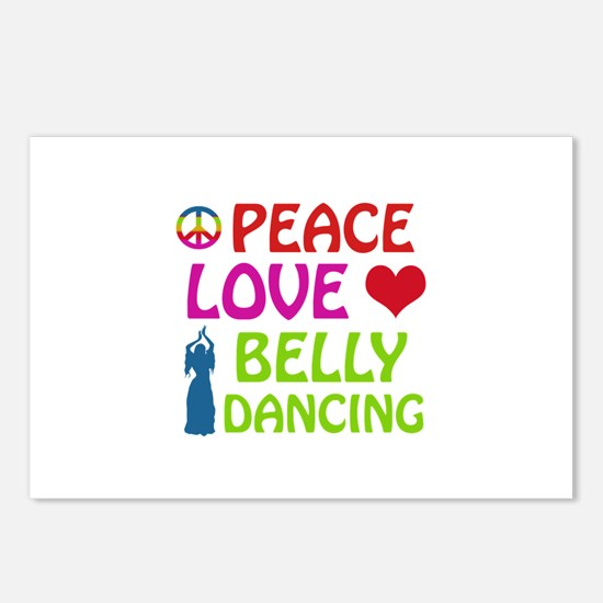 Peace Love Belly Dancing Postcards (Package of 8)