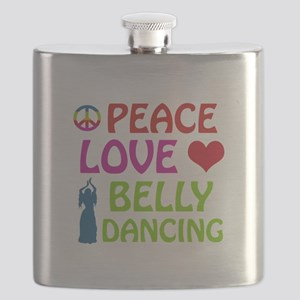 Peace Love Belly Dancing Flask