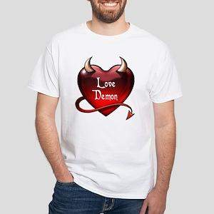 """Love Demon"" White T-Shirt"
