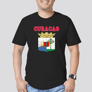 Curacao Coat Of Arms Designs Men's Fitted T-Shirt
