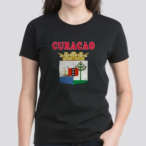 Curacao Coat Of Arms Designs Women's Dark T-Shirt