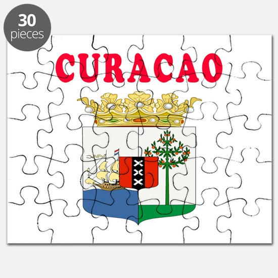Curacao Coat Of Arms Designs Puzzle