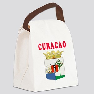 Curacao Coat Of Arms Designs Canvas Lunch Bag