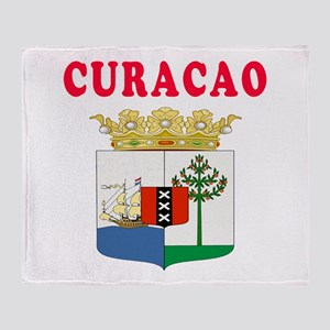 Curacao Coat Of Arms Designs Throw Blanket