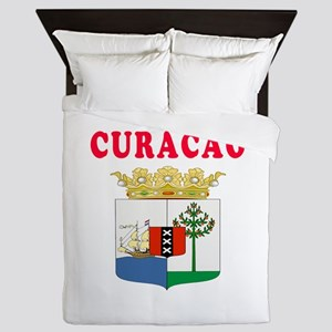 Curacao Coat Of Arms Designs Queen Duvet