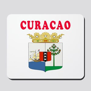Curacao Coat Of Arms Designs Mousepad