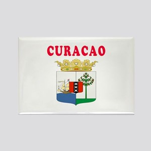 Curacao Coat Of Arms Designs Rectangle Magnet