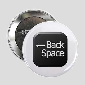 "Black Keyboard Back Space Key 2.25"" Button"