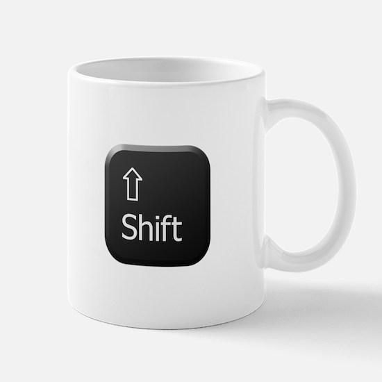 Black Keyboard Shift Key Mug