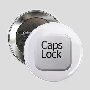 "White Keyboard Caps Lock Key 2.25"" Button"