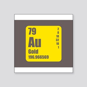 Periodic Table Of Element's Au GOLD Sticker