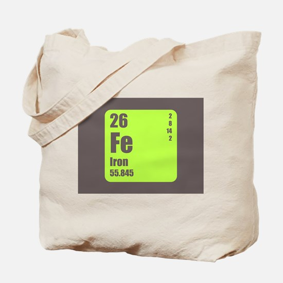 Periodic Table Of Element's Fe Iron Tote Bag