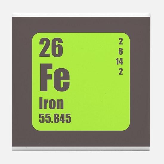 Periodic Table Of Element's Fe Iron Tile Coaster