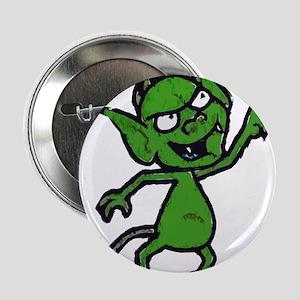"""Little Green Man 2.25"""" Button"""