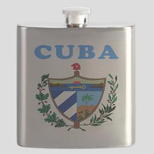 Cuba Coat Of Arms Designs Flask