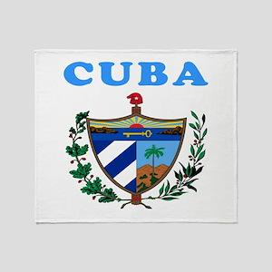 Cuba Coat Of Arms Designs Throw Blanket