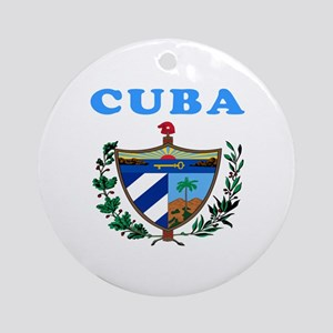 Cuba Coat Of Arms Designs Ornament (Round)