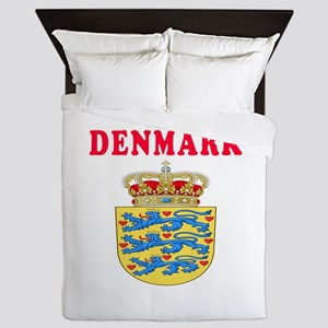 Denmark Coat Of Arms Designs Queen Duvet