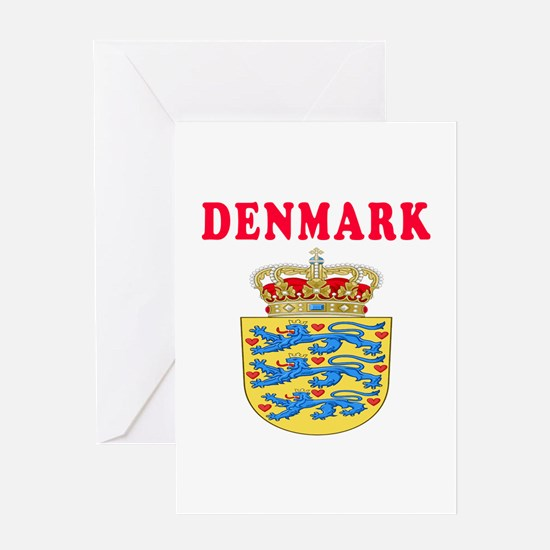 Denmark Coat Of Arms Designs Greeting Card