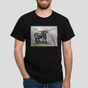Long Horn, Texas Bull, art T-Shirt