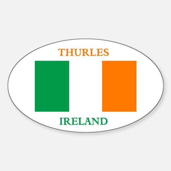 Thurles Ireland Sticker (Oval)