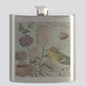 Vintage French bird and nest Flask